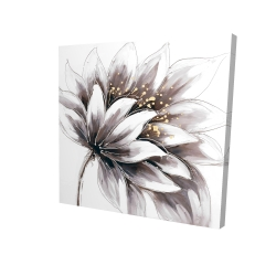 Canvas 24 x 24 - 3D - Purple flower with gold center