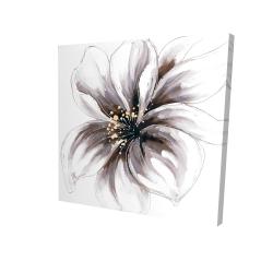 Canvas 24 x 24 - 3D - Purple orchid