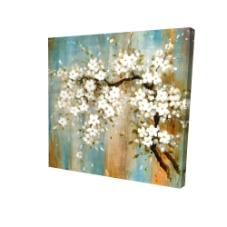 Canvas 24 x 24 - 3D - Relaxing cherry blossoms