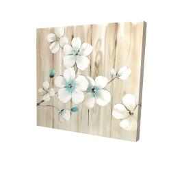 Canvas 24 x 24 - 3D - Cherry blossom in white