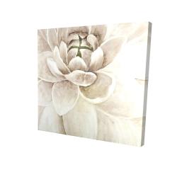 Canvas 24 x 24 - 3D - Delicate chrysanthemum