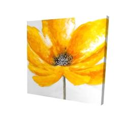 Canvas 24 x 24 - 3D - Big yellow flower