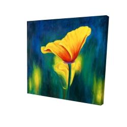 Canvas 24 x 24 - 3D - Superb contrast flowers