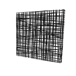 Canvas 24 x 24 - 3D - Abstract small stripes