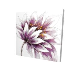 Canvas 24 x 24 - 3D - Purple flower