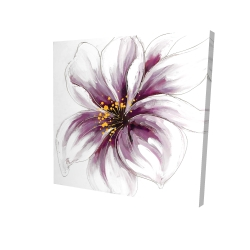 Canvas 24 x 24 - 3D - Purple orchid