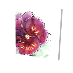 Canvas 24 x 24 - 3D - Blossoming orchid with wavy petals