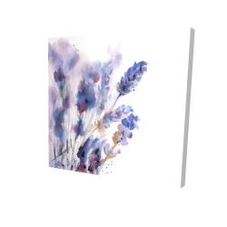 Canvas 24 x 24 - 3D - Watercolor lavender flowers with blur effect