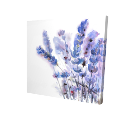 Canvas 24 x 24 - 3D - Watercolor lavender flowers