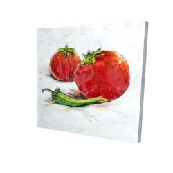 Canvas 24 x 24 - 3D - Tomatoes with jalapeño