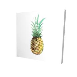 Canvas 24 x 24 - 3D - Watercolor pineapple