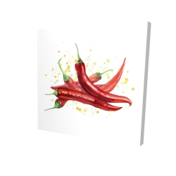 Canvas 24 x 24 - 3D - Red hot peppers