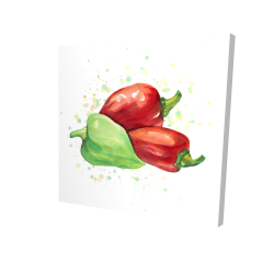 Canvas 24 x 24 - 3D - Bell peppers