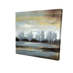 Canvas 24 x 24 - 3D - Grey landscape