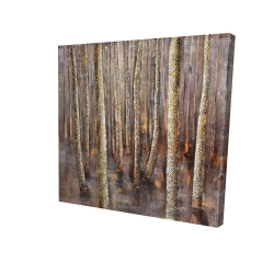 Canvas 24 x 24 - 3D - The dark forest