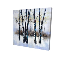 Canvas 24 x 24 - 3D - Frosted trees