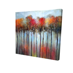 Canvas 24 x 24 - 3D - Abstract and colorful forest