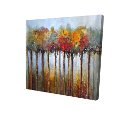 Canvas 24 x 24 - 3D - Colorful leaves trees