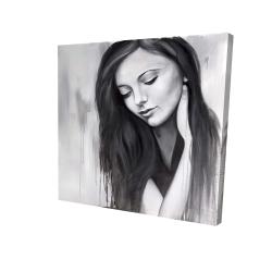 Canvas 24 x 24 - 3D - Realistic woman portrait