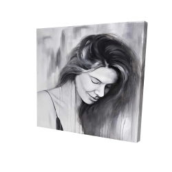 Canvas 24 x 24 - 3D - Smiling woman portrait