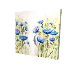 Canvas 24 x 24 - 3D - Blue garden
