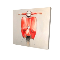 Canvas 24 x 24 - 3D - Small red moped