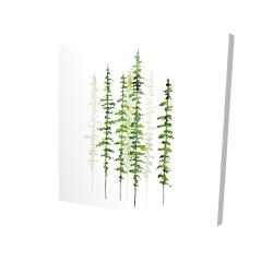 Canvas 24 x 24 - 3D - Minimalist trees
