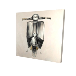 Canvas 24 x 24 - 3D - Small black moped