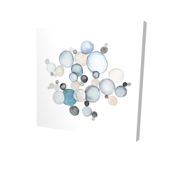 Canvas 24 x 24 - 3D - Round pebbles