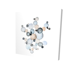 Canvas 24 x 24 - 3D - Grayish bubbles