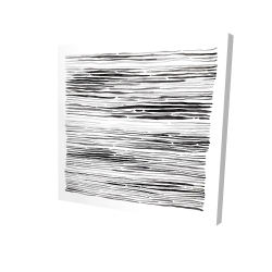 Canvas 24 x 24 - 3D - Gray grooves
