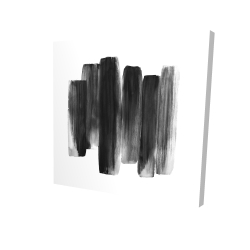 Canvas 36 x 36 - 3D - Black shapes