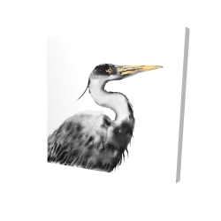 Canvas 24 x 24 - 3D - Great heron