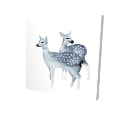 Canvas 24 x 24 - 3D - Blue fawns