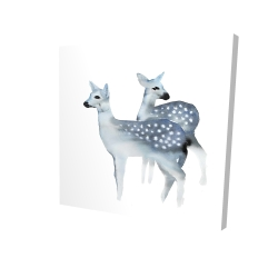 Canvas 24 x 24 - 3D - Blue fawns