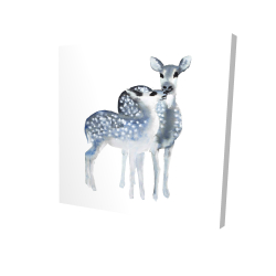 Canvas 24 x 24 - 3D - Blue fawns love