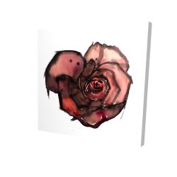 Canvas 24 x 24 - 3D - Dark rose