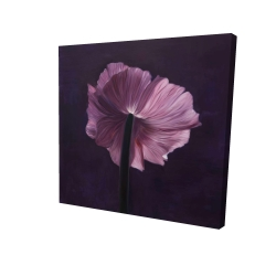 Canvas 24 x 24 - 3D - Purple petals