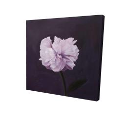 Toile 24 x 24 - 3D - Magnifique fleur mauve
