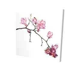 Canvas 24 x 24 - 3D - Branch of cherry blossoms