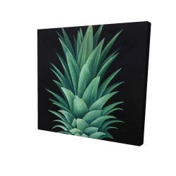 Canvas 36 x 36 - 3D - Pineapple leaves