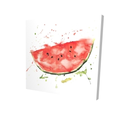 Canvas 24 x 24 - 3D - Watermelon slice