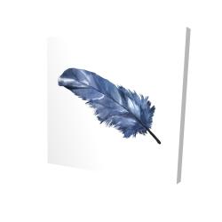 Canvas 24 x 24 - 3D - Blue feather