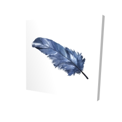 Canvas 24 x 24 - 3D - Blue feather