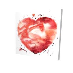 Canvas 24 x 24 - 3D - Big heart