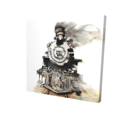 Canvas 24 x 24 - 3D - Vintage train