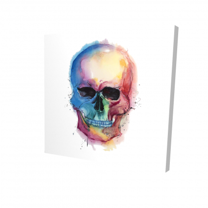 Watercolor colorful skull