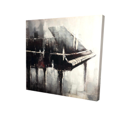 Canvas 24 x 24 - 3D - Industrial style piano