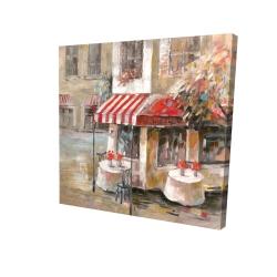 Canvas 24 x 24 - 3D - Sunny restaurant terrace
