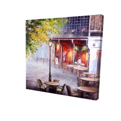 Canvas 24 x 24 - 3D - Outdoor restaurant by a nice day